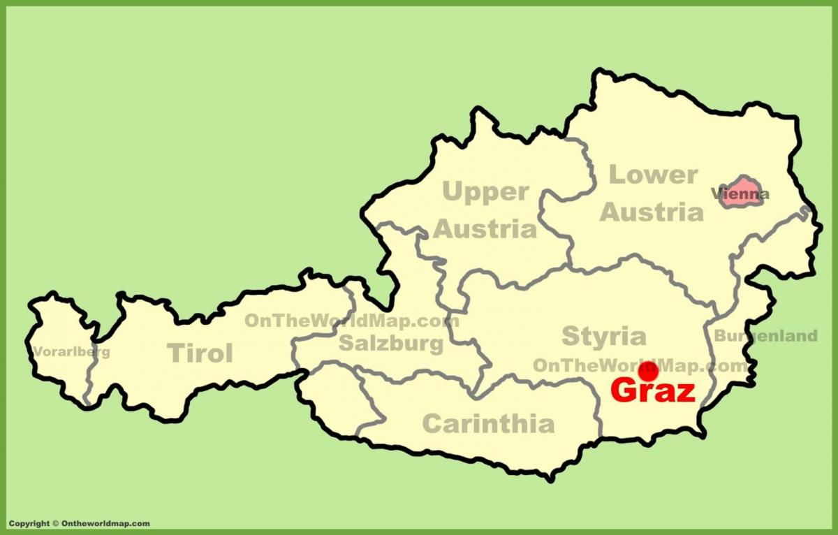 map of graz austria