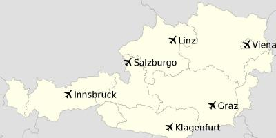 Airports in austria map