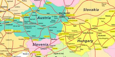 Austria rail map