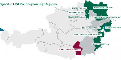 Austrian wine regions map