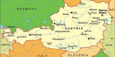 Austria Map Maps Austria Western Europe Europe